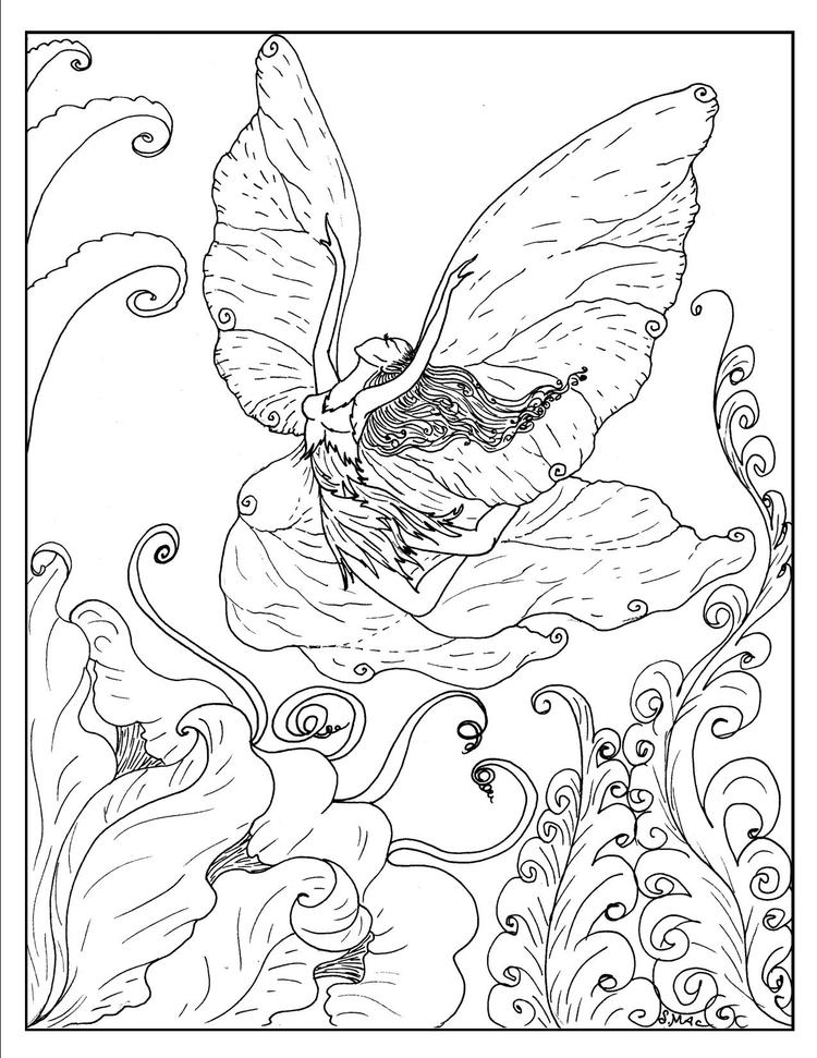 Fantasy Coloring Pages Elf