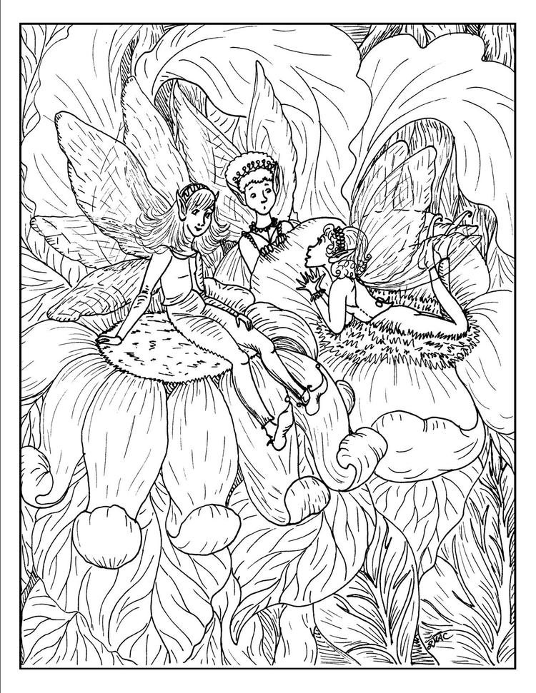 Fantasy Coloring Pages Fairies