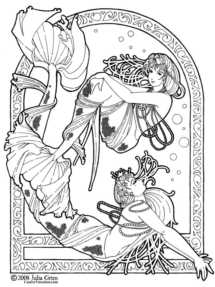 Fantasy Coloring Pages Mermaid