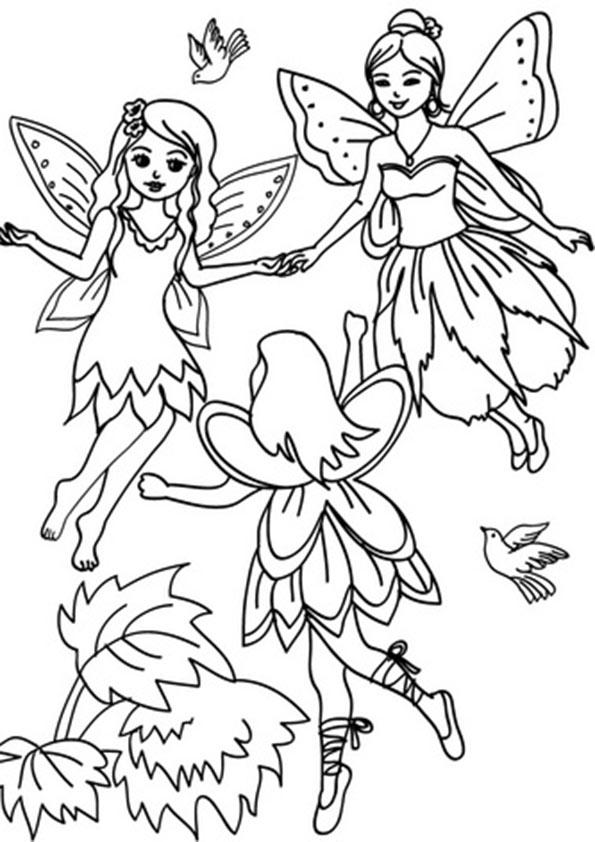 Fantasy Fairies Coloring Pages For Kids