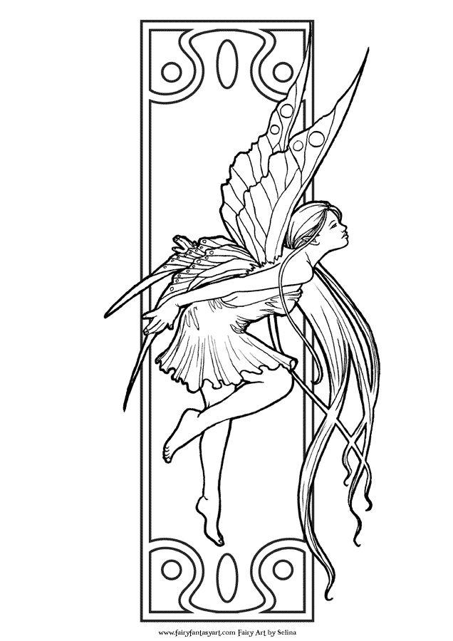Fantasy Fairy Coloring Pages Printable