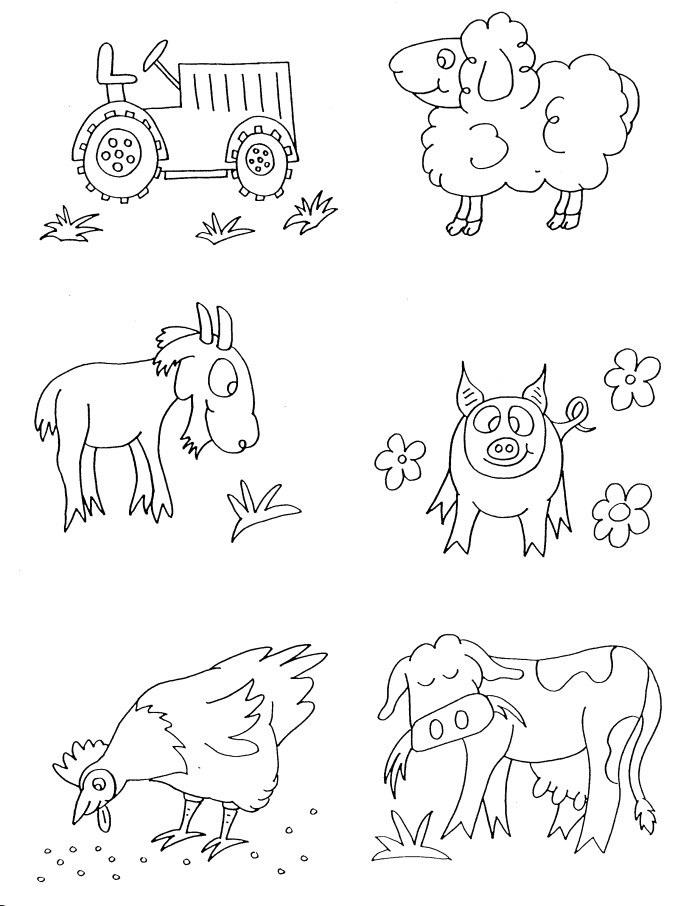 Farm Animal Coloring Pages For Preschool