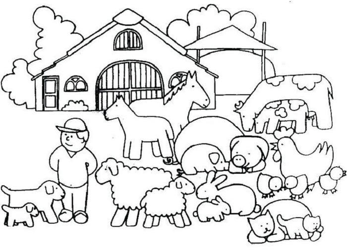 Farm House Coloring Pages