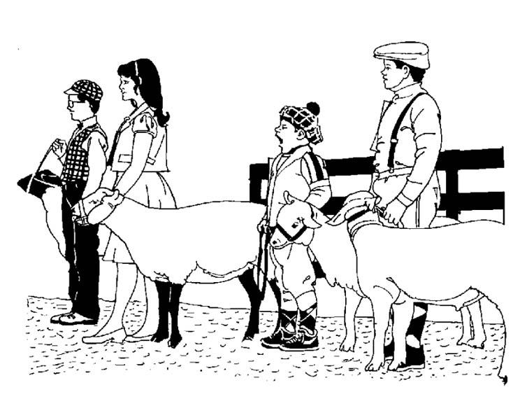 Farm Life Coloring Pages Farmer Holding Their Livestock