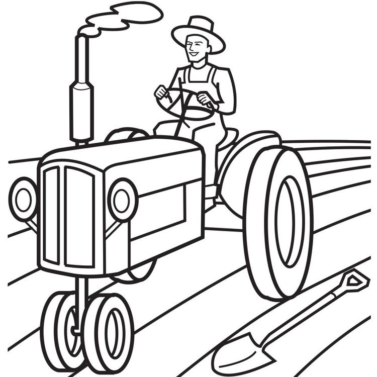 Farmer Plowing Coloring Pages