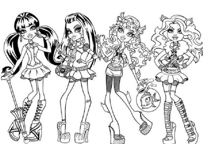 Fashion Angels Coloring Pages