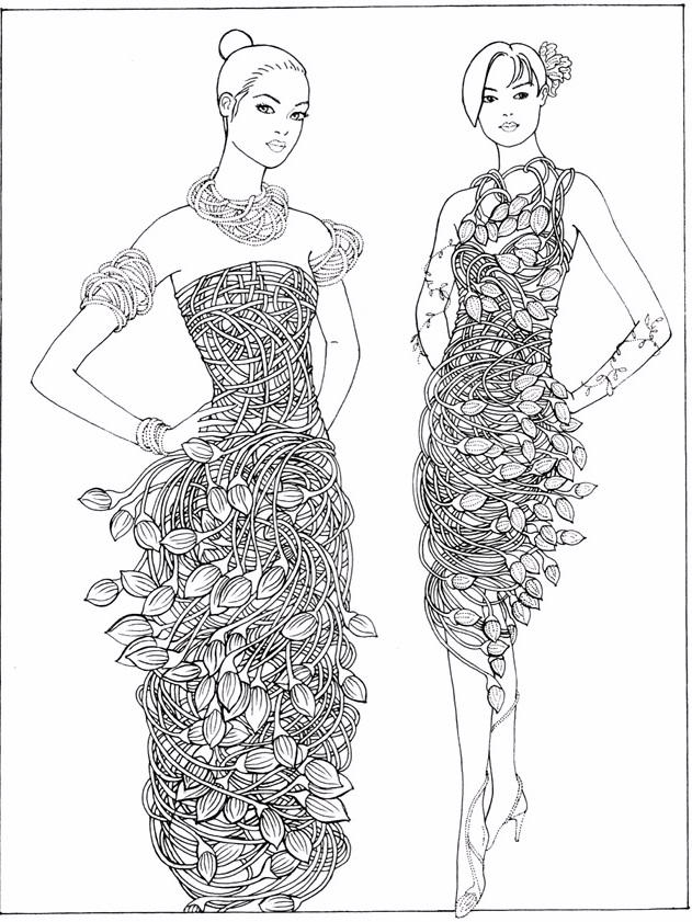 Fashion Coloring Pages 02
