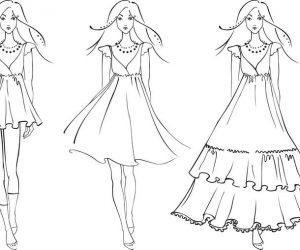 Fashion dress coloring pages 02