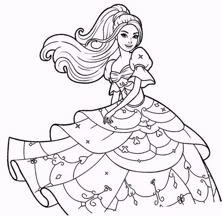 Fashion Dress Coloring Pages For Girls