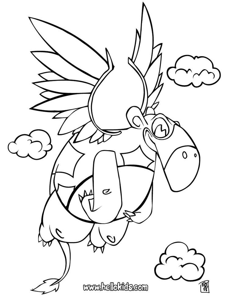 Fat Flying Dinosaurs Coloring Pages