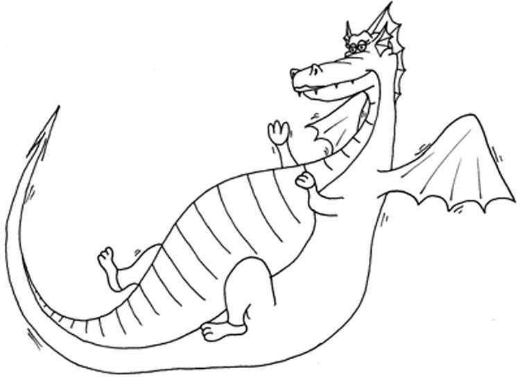 Fat Flying Dragon Coloring Pages