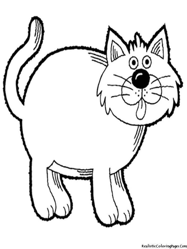 Fat Realistic Cat Coloring Pages