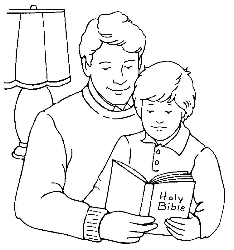 Fathers Day Bible Coloring Pages