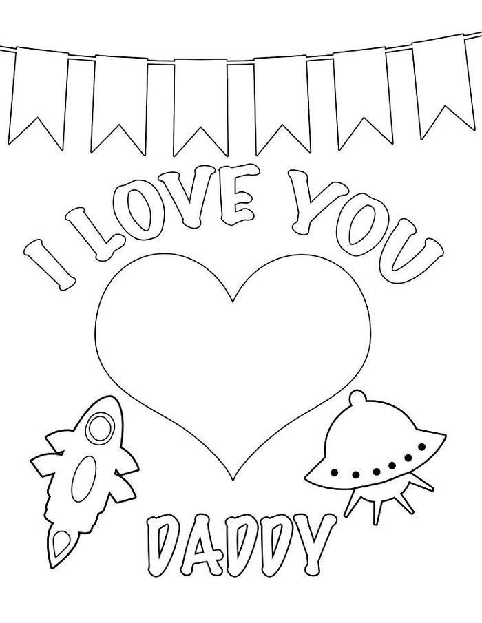 Fathers Day Coloring Pages For Kids