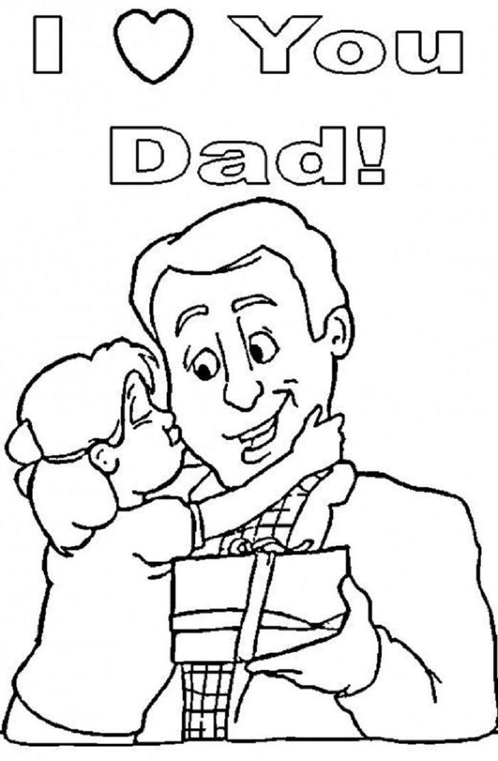 Fathers Day Coloring Pages Printable