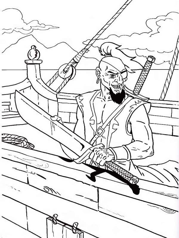 Fearsome Pirate Coloring Pages