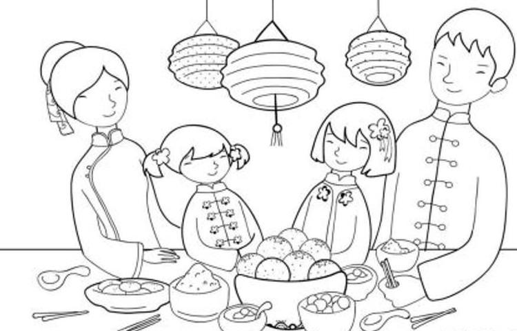 Feast Chinese New Year Coloring Pages