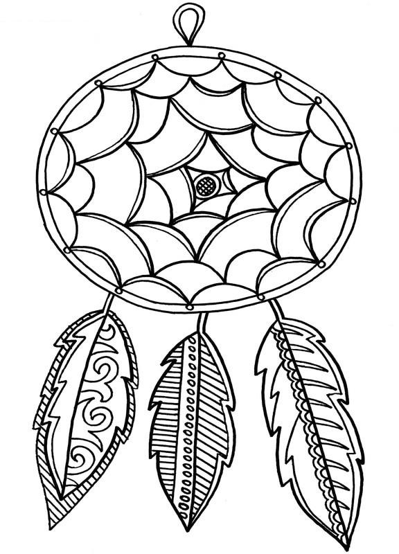 Feather Accessories Necklace Coloring Sheet
