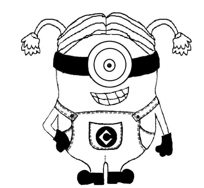 Female Minion Coloring Pages