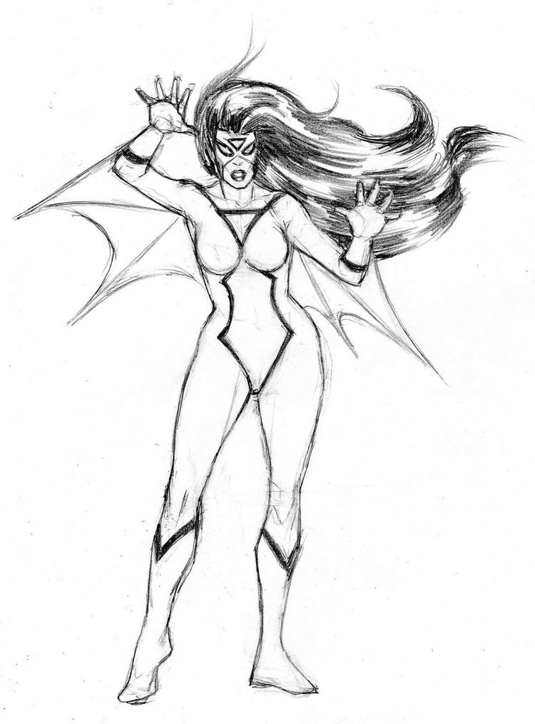 Female Superhero Coloring Pages Ubyt