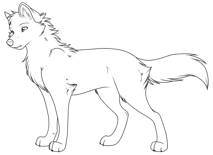 Female Wolf Coloring Pages