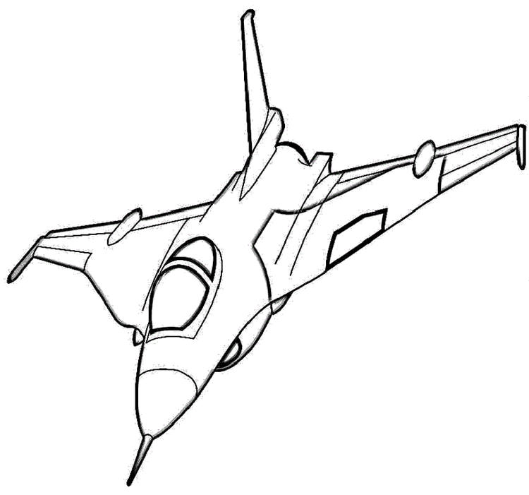 Fighter Aircraft Coloring Drawing Page Design