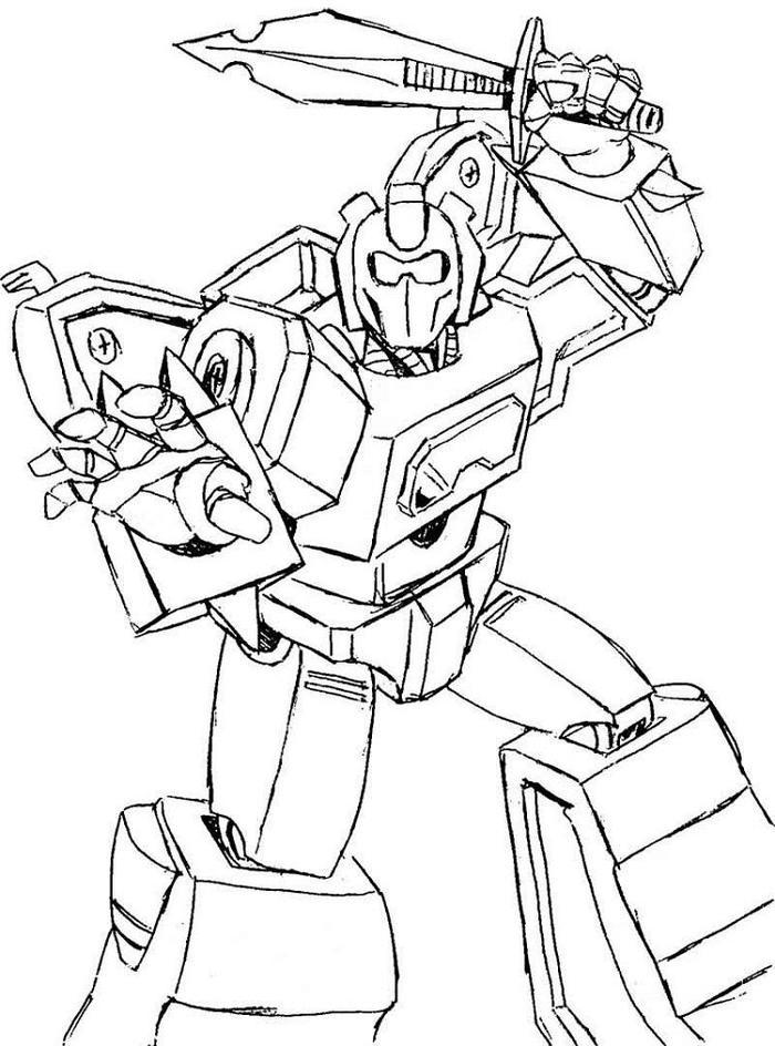 Fighting Robots Coloring Pages
