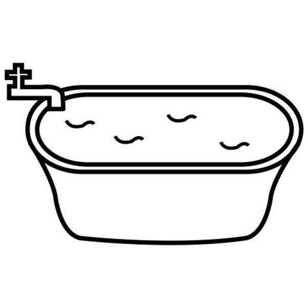 Filling Bathtub With Water For Bath Coloring Pages