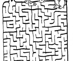 Find Your Way Bunny Puzzle Maze