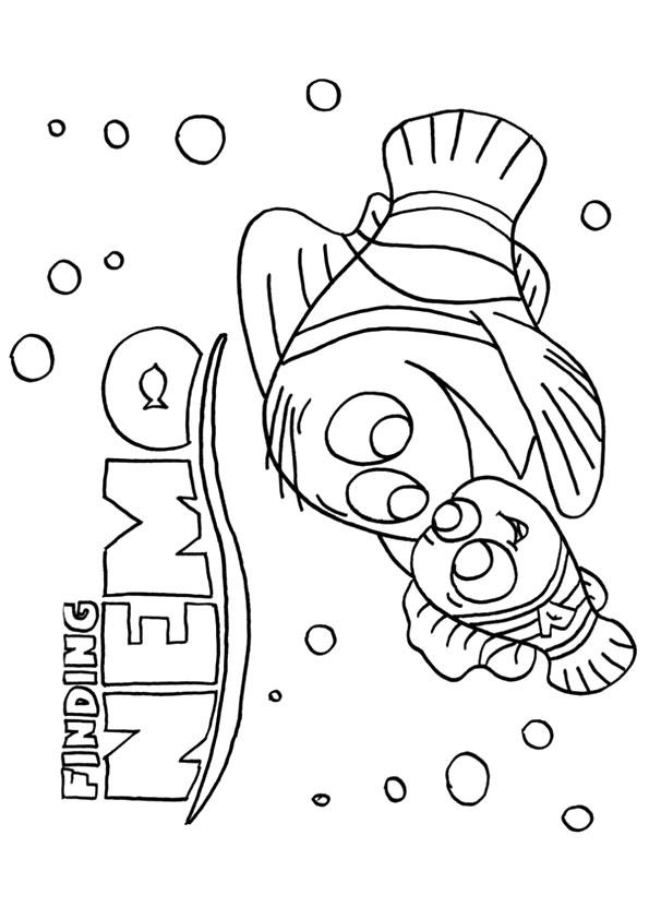 Finding Nemo Coloring Pages Disney Movie