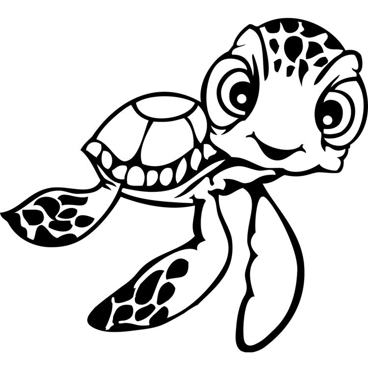 Finding Nemo Coloring Pages Squirt Sea Turle
