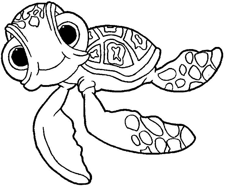 Finding Nemo Coloring Pages Squirt