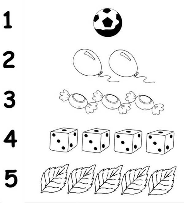 Finding Number 5 Coloring Page