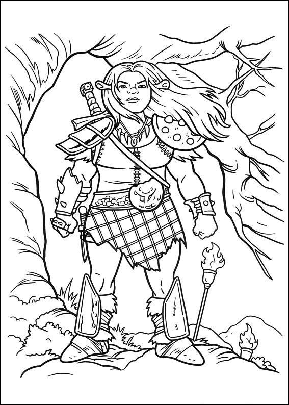 Fiona As A Warrior Leader Coloring Page