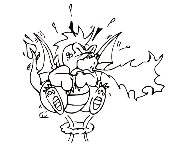 Fire Breathing Dragon Coloring Pages 1