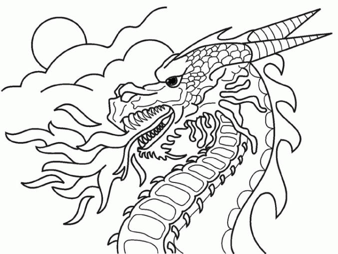 Fire Dragon Coloring Pages Printable