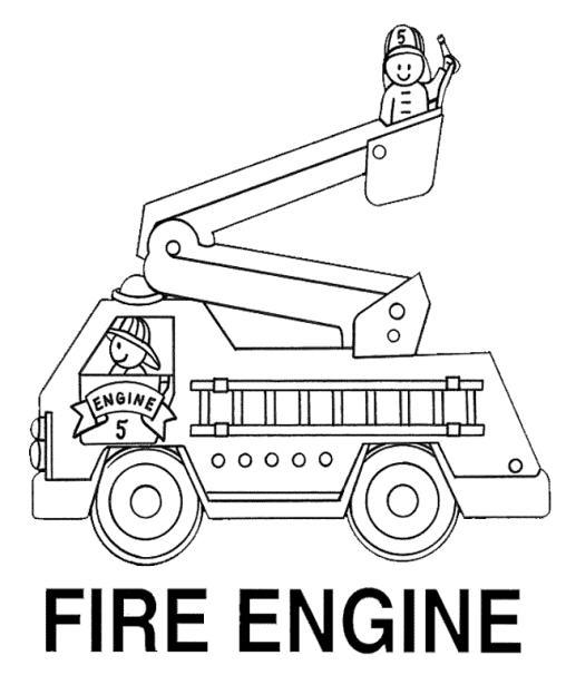 Fire Truck Coloring Pages Fire Engine