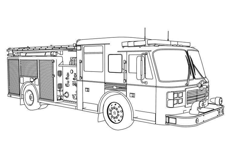 Fire Truck Coloring Pages For Boys