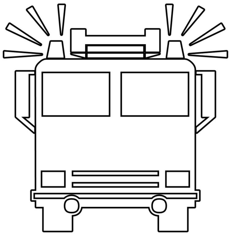Fire Truck Coloring Pages For Preschool