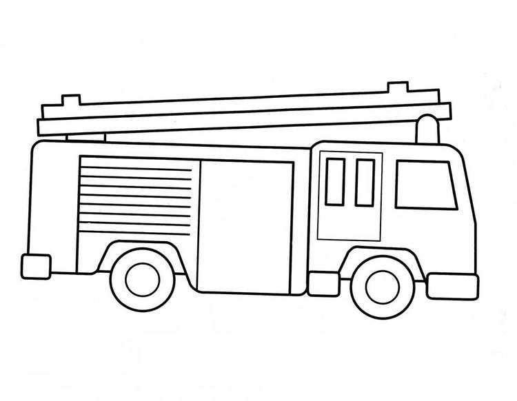 Fire Truck Coloring Pages For Preschooler
