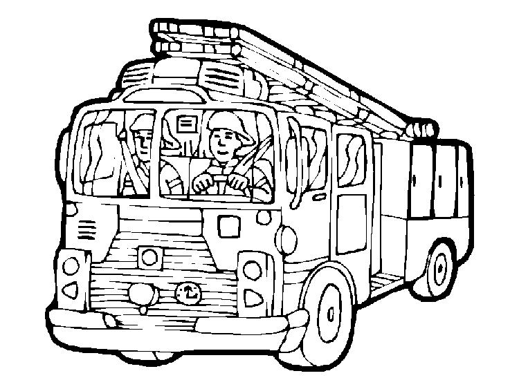 Fire Truck Coloring Pages Free For Kids