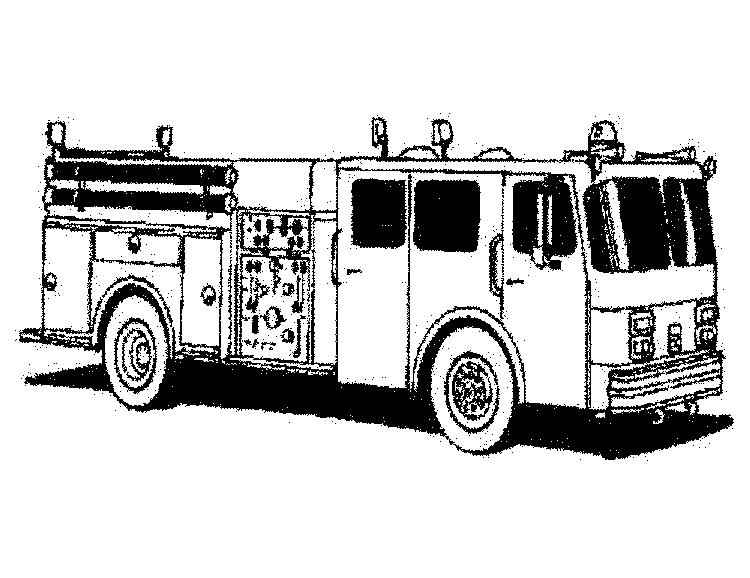 Fire Truck Coloring Pages Printable For Kids