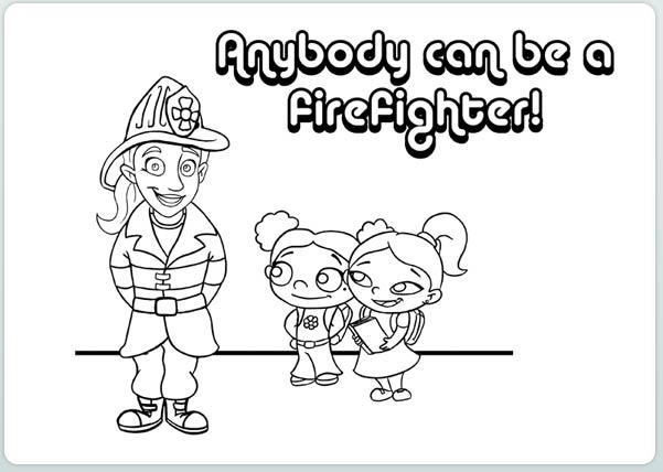 Firefighter Coloring Pages For Girls