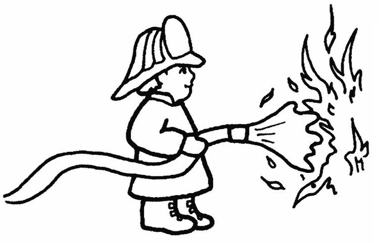 Firefighter Coloring Pages For Preschooler
