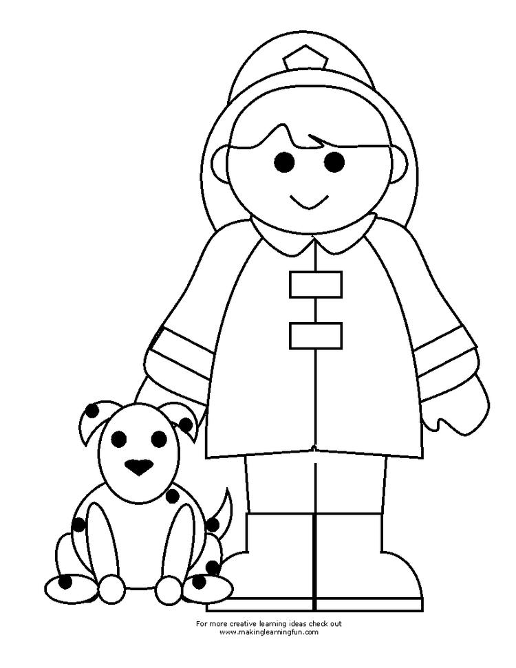 Firefighter Coloring Pages For Toddler