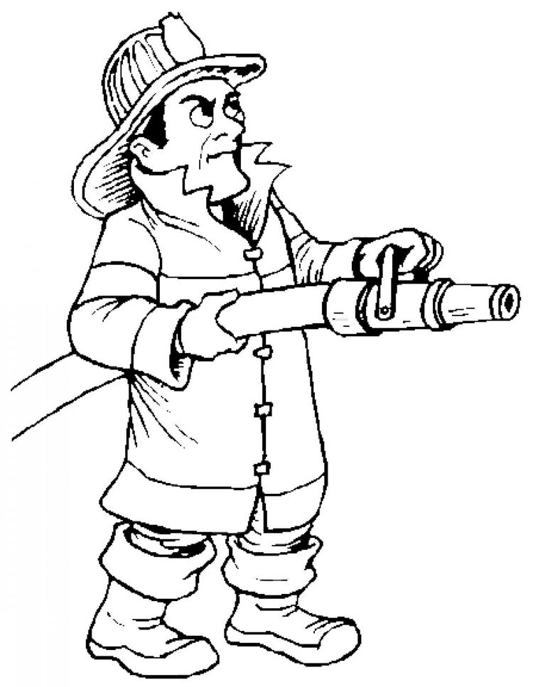 Firefighter Coloring Pages Free To Print