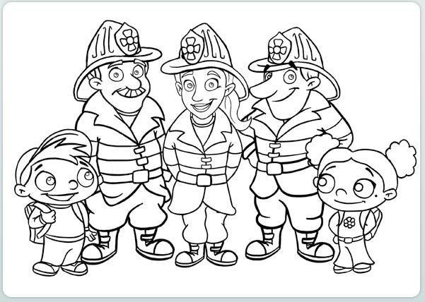 Firefighter Coloring Pages With Kids