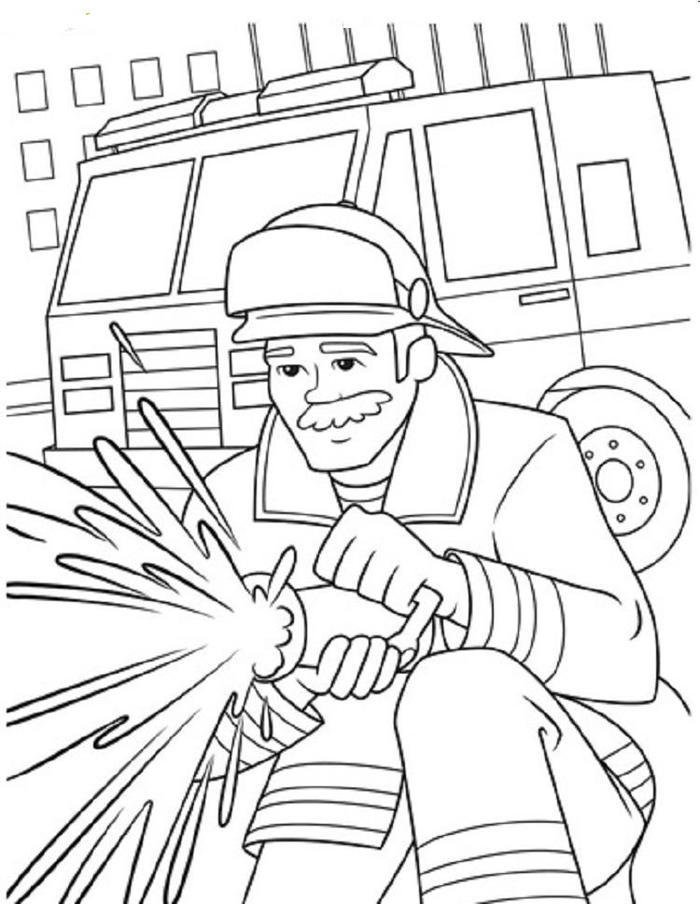 Firefighter Crayola Coloring Pages