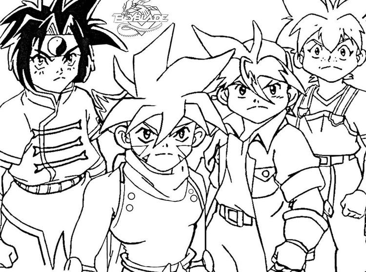 First Beyblade Coloring Pages