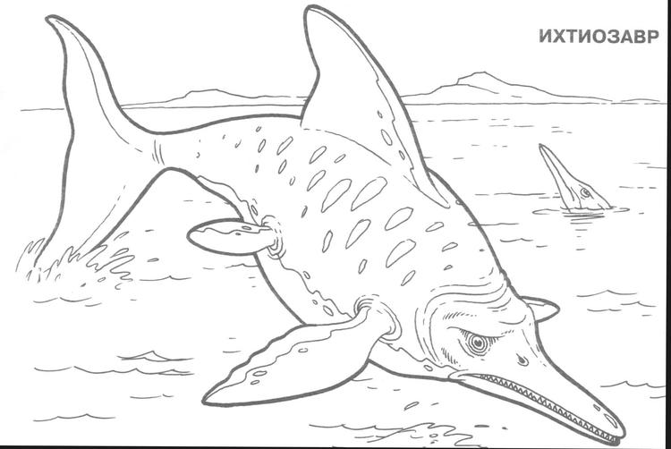 Fish Dinosaurs Coloring Pages With Names
